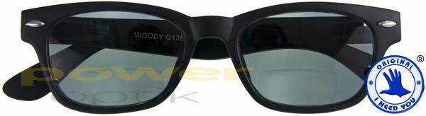Woody Sun-Bi Retro-Bifokal-Sonnenbrille schwarz grau +01.00 JNp6RBh1C